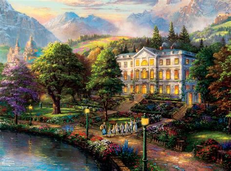 Country Cottage Cross Stitch Thomas Kinkade The Sound Of Music 1000 Piece Puzzle By