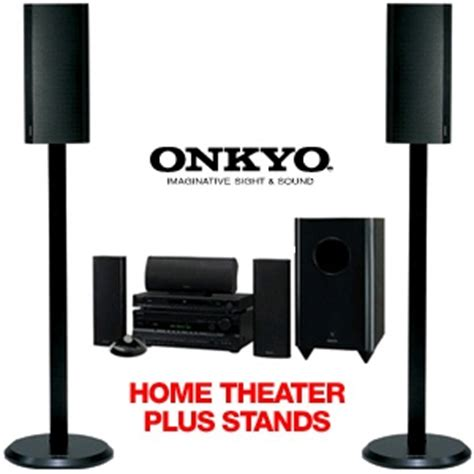 onkyo ht sp904 home theater system w as 240 speaker stand
