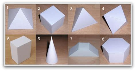 How To Make 3 Dimensional Shapes With Paper - geometric shapes to print cut color and fold