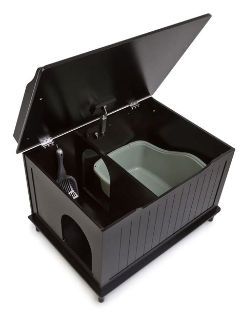 litter box the designer catbox litter box enclosure in black free shipping 4paws4you