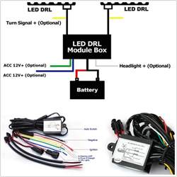 practical 12v car led daytime running lights relay drl