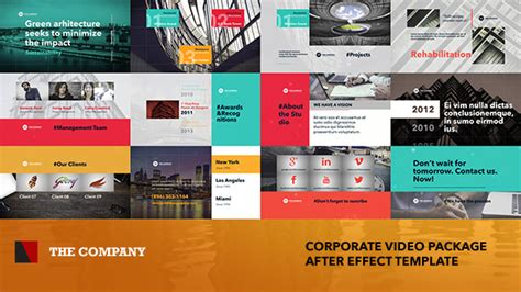 The Company Corporate Video Package Miscellaneous Envato Videohive After Effects Templates Adobe After Effects Templates Envato