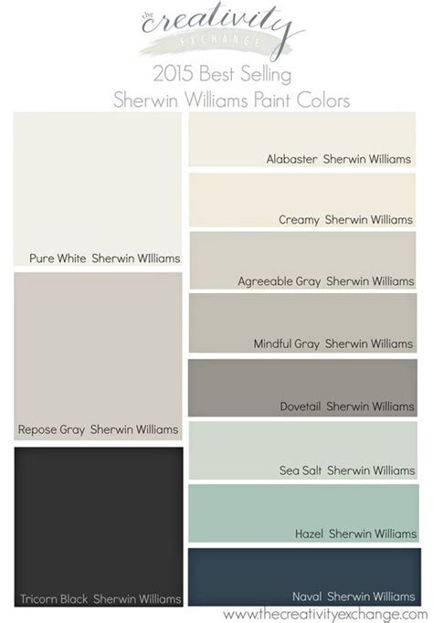 2015 best selling and most popular paint colors sherwin williams and benjamin paint