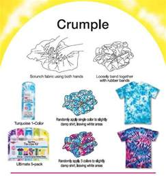 Holiday Wood Craft Patterns - crumple tie dye technique from tulip favecrafts com