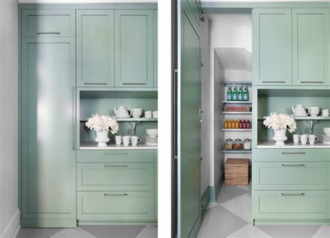 Green Pantry by Pantry Doors Design Ideas