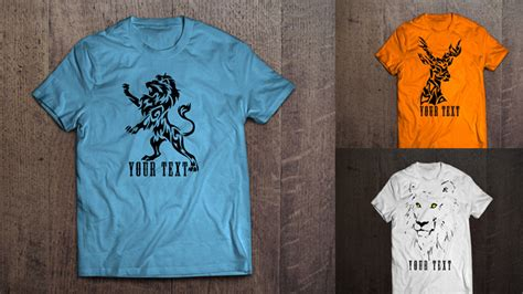 11 free t shirt design vector collection for graphic projects
