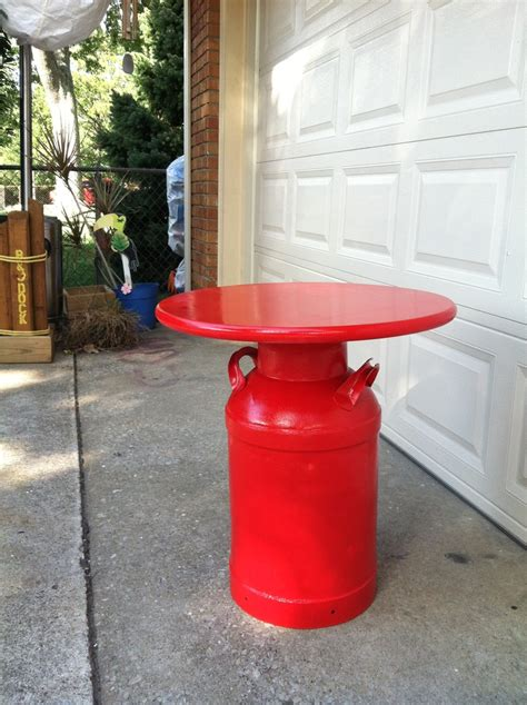 Milk Can Table by 17 Best Ideas About Milk Can Table On Milk Can Decor End Tables And Rustic End Tables