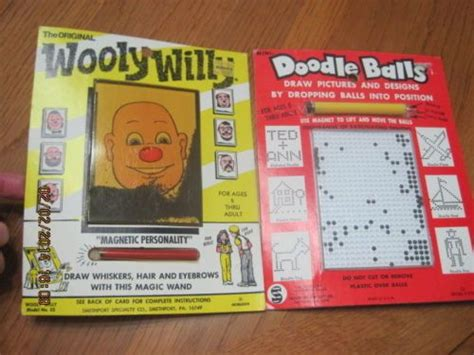 doodle balls magnetic drawing activity vintage wooly willy doodle balls magnetic boards 1970 quot s