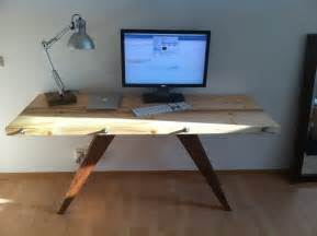 cool desk designs 14 creative diy computer desk ideas fascinating minimalist nature wood diy computer desk with