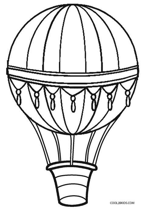 coloring page for hot air balloon printable hot air balloon coloring pages for kids cool2bkids