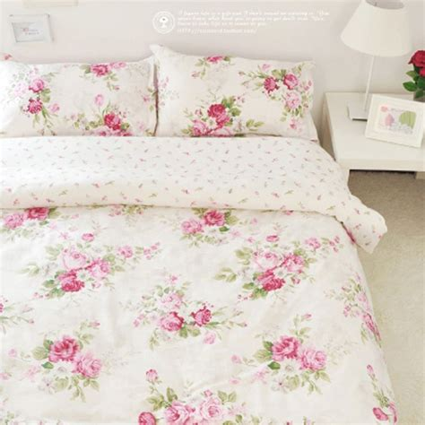 french rose duvet cover set shabby chic pinterest