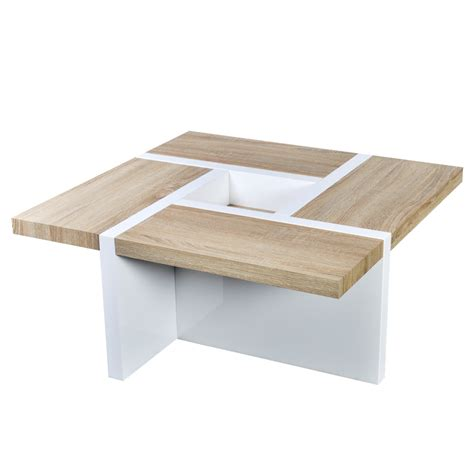 vidaxl co uk oak white high gloss coffee table