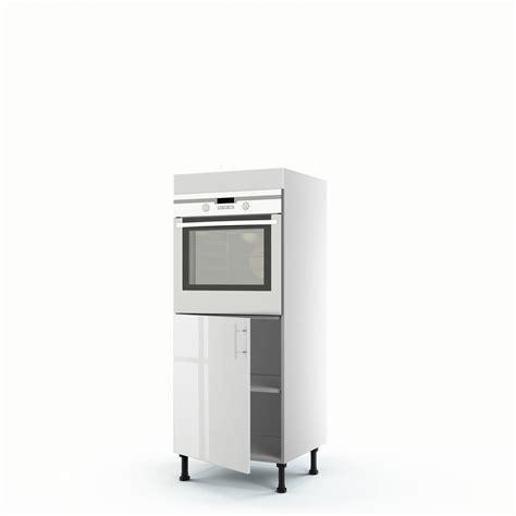 meuble colonne de cuisine meuble de cuisine demi colonne blanc four 1 porte h