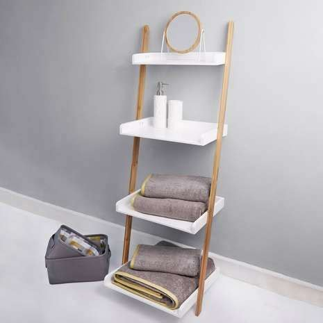 bathroom ladder shelves 1000 ideas about white ladder shelf on ladder