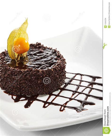 kuchen gefroren nachtisch schokolade gefrorener kuchen stockbilder