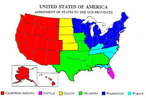america map provinces and states four becomes one new province of the daughters of charity