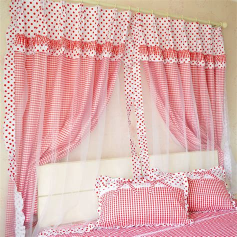 red and white curtains for bedroom 2014 new cute red polka dot girls room curtains elegant
