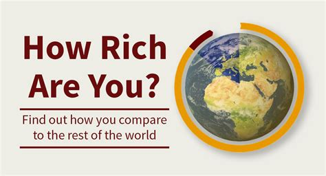 How To Find Rich To Give You Money How Rich Are You Exactly Compared To The World Smallcapasia