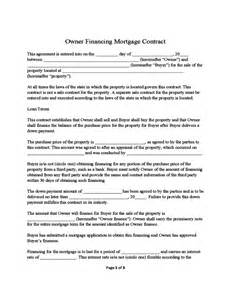 for sale by owner contract template owner financing mortgage contract sle free