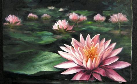 water lily flower with lion water flower painting www pixshark images