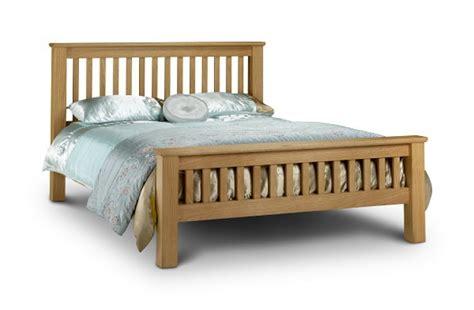 Oak Bed Frames Uk Julian Bowen Amsterdam 5ft Kingsize Oak Bed Frame High Foot End By Julian Bowen