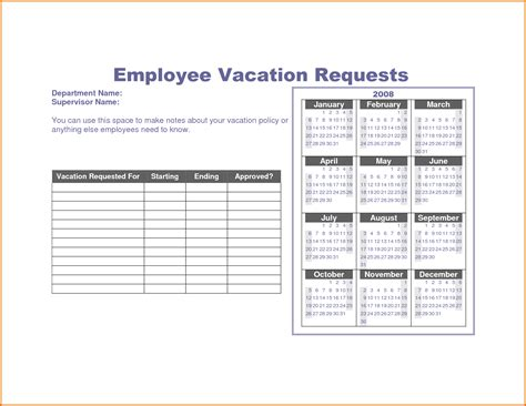 vacation template vacation request form templatereference letters words
