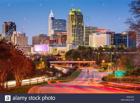 raleigh carolina usa downtown city skyline stock