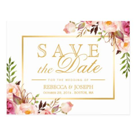 Templates For Save The Date Cards by Save The Date Gifts Zazzle