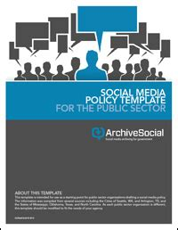 social media protocol template social media policy template for the sector