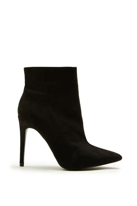 megan mckenna black suede stiletto ankle boots