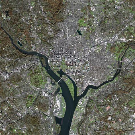 washington dc map satellite spot 5 satellite image washington d c united states