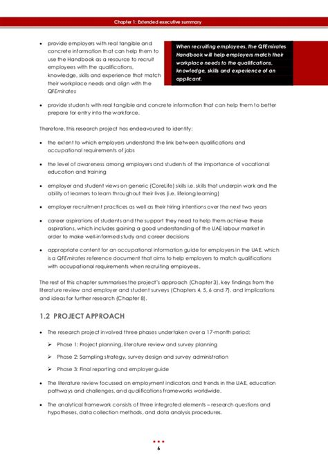 emirates qualification framework final nqa report employment decisions fdc project