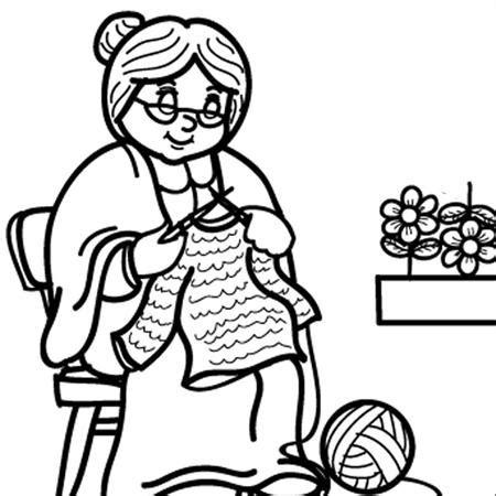 colorear abuela haciendo manualidades con sus nietos abuela tejiendo l 225 minas para colorear y regalar a los