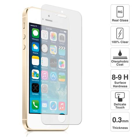 Tempered Glass Iphone Se iphone se tempered glass 9h screen protector ebay