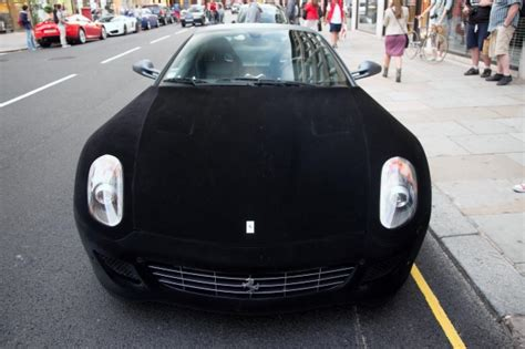 velvet ferrari ferrari owner covers car with velvet ny daily news