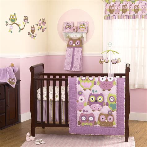 owl baby girl bedding cute little owls sitting in trees create a perfect design