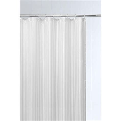 White Textured Shower Curtain by Asda Site