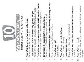 Ten commandments ten commandment bible printables for kids check out