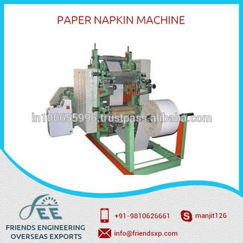 Paper Napkin Machine Price In India - sting tissue paper folding machine available at low