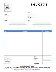 template for a invoice sle invoice template cyberuse