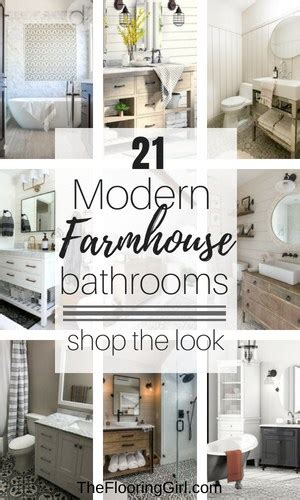 Modern Shabby Chic Bathroom by 21 Modern Farmhouse Style Bathrooms For A Rustic Shabby