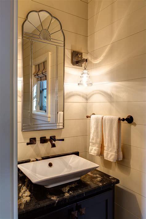 Modern rustic powder room powder room rustic with shiplap