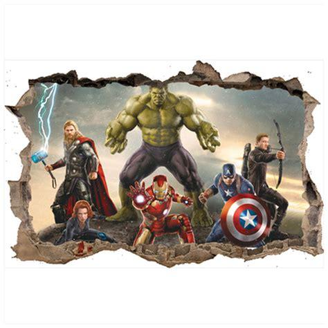 avengers anime broken wall decals super hero iron man