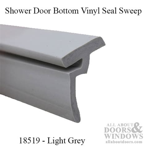 Replacement Shower Door Bottom Vinyl Seal Sweep Keystone Replacing Shower Door Sweep