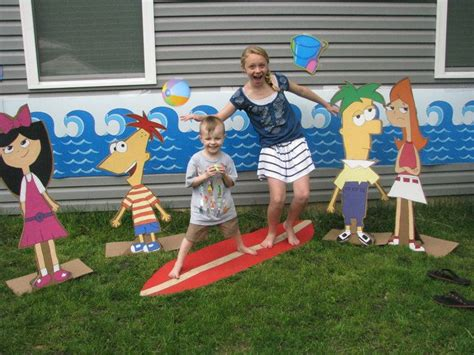 phineas and ferb backyard beach backyard beach phineas and ferb cut outs kids