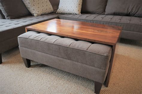 chair with ottoman that fits underneath waterfall wood coffee table ottoman coffee table ottoman