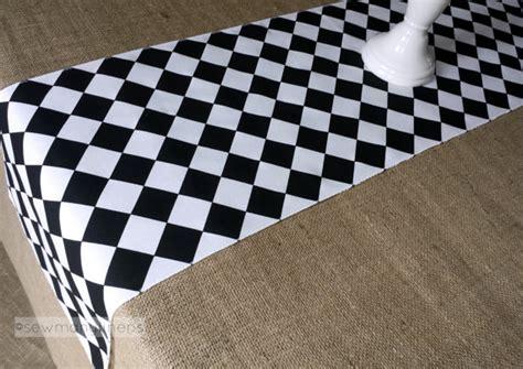 Black and White Diamond Table Runner Harlequin Check Runner