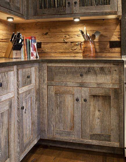 barn wood cabinets  pinterest barn siding barn wood