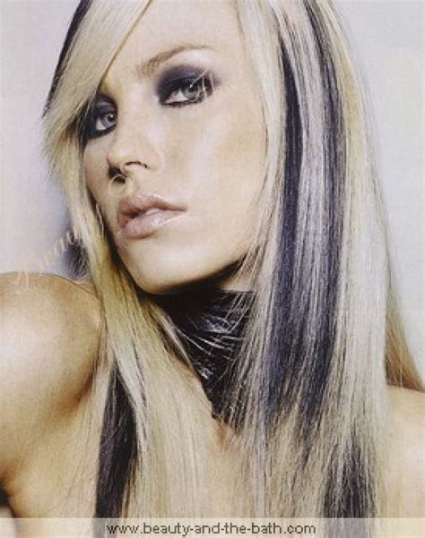 black and white color hairstyles whitish blonde hair black and white hair color free