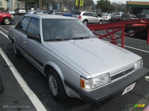 1992 subaru loyale sedan 1992 quick silver metallic subaru loyale sedan 77166915